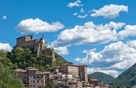 Die Rocca Abbaziale thront oberhalb von Subiaco