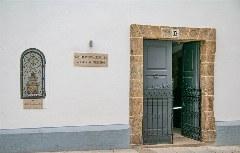 Eingang zum Pilgerbüro in Santiago de Compostela