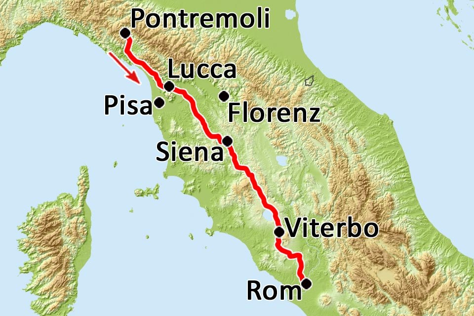 Via Francigena Italien Vom Mittelmeer Nach Rom Mit Pura Wandern