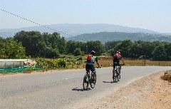 Radfahrer auf dem Camino