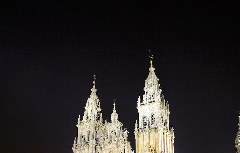 Jakobus-Kathedrale von Santiago de Compostela bei Nacht