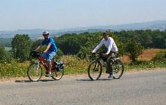 Radfahrer im galicischen Hinterland