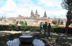 Blick auf die Altstadt Santiago de Compostela