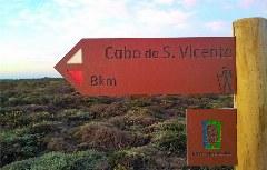Rota Vicentina Wegweiser zum Kap San Vicente