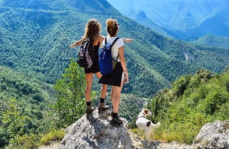 Wanderer in den Simbruini-Bergen