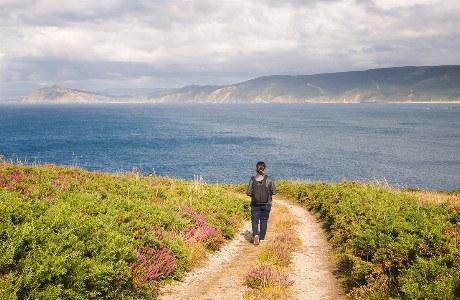 Wanderer an der Costa da Morte