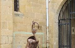 Bici-Denkmal Santiago de Compostela