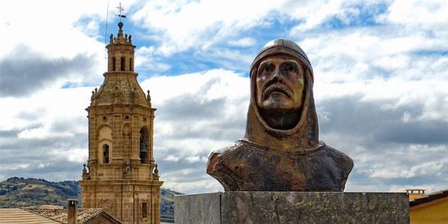 Denkmal von Sancho Garces I. in Villamayor de Monjardin