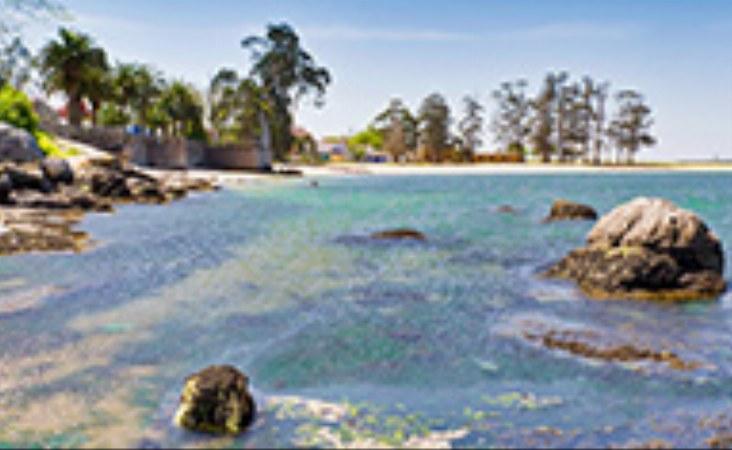Playa de Sinas bei Vilanova de Arousa